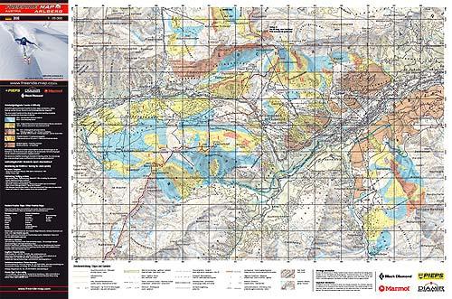 Přední strana Freeride Map– ukázkově Arlberg
