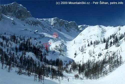 Celkový pohled na údolí schatou, tak jak ho bylo možné vidět až vneděli při návratu