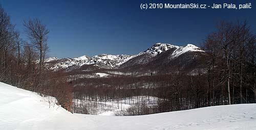 On the right rocky summit Snježnik