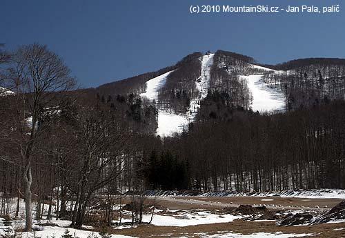 The main part of ski resort Platak