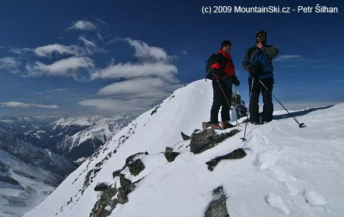 Petr and Zdeněk at the summit of Säuleck – 3086 m