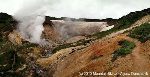 Mini dolina Gejzírů uvulkánu Mutnovskij