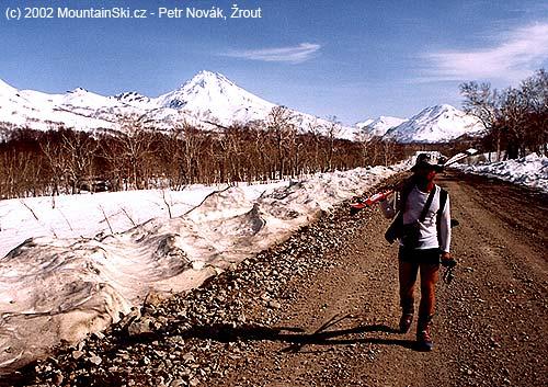 Pěšky od Viljučinského– palič na Kamčatce vroce 2002