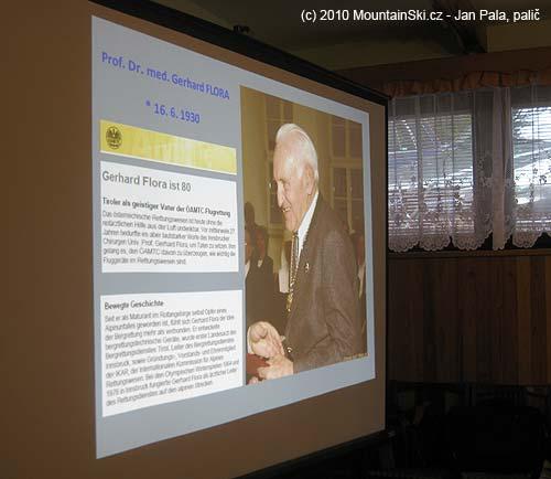 Vrámci insbruckého kongresu se slavily osmdesáté narozeniny profesoraFlora