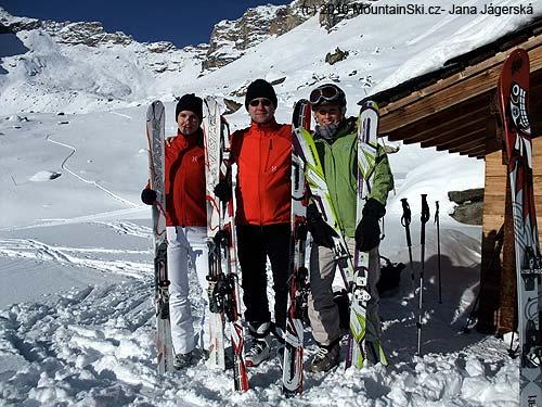 Ski exhibition at the chalet La Forcla, II
