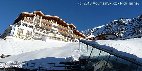 There are everywhere four stars hotels, ski lifts and avalanche protection abovethem