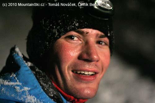 Smiling Všeťa after one of many falls