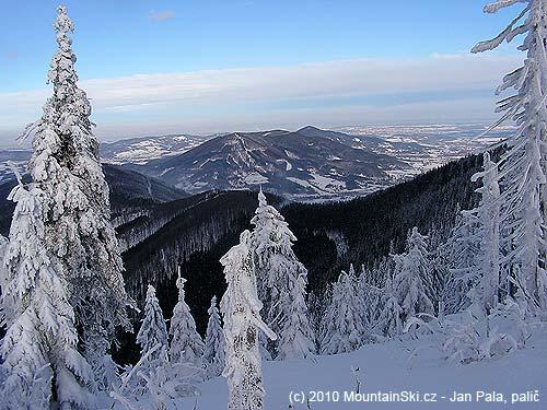 The peak Ondřejník from the upper part of Knehyne