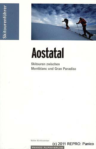 Titulní strana skialpinistického průvodce Aostatal