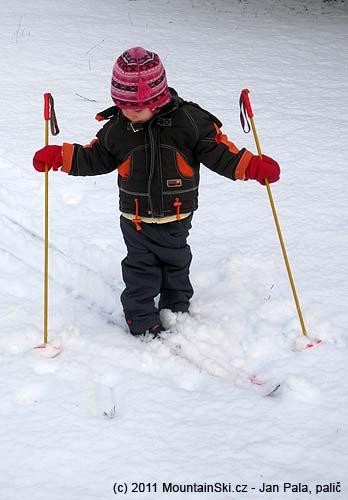 Sníh vKlecanech sice byl, ale bylo ho málo