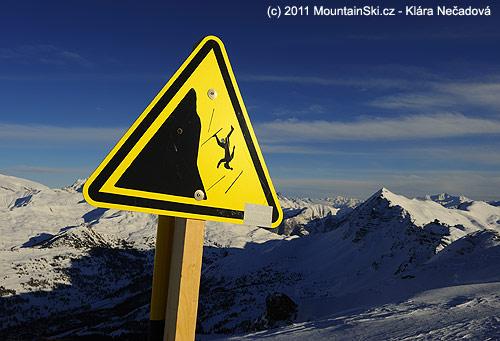 Stylové značky na vrcholu Pic de Chabrieres– 2750m