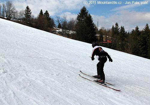 Všeťa je lyžařský zpátečník