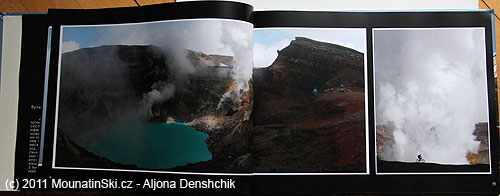 Strany 36–37 Voda není přibarvená– je to realita vulkánu Gorelij