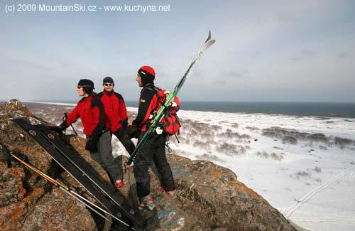 Summit near ocean