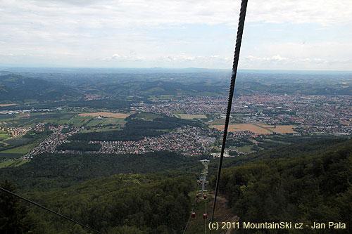 Maribor je hluboko pod námi