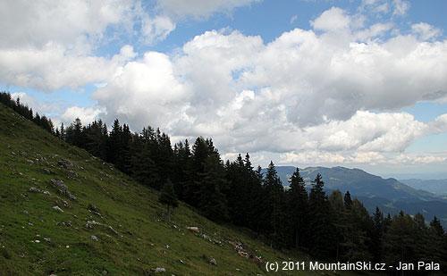 Planina Arta při výstupu na Raduhu