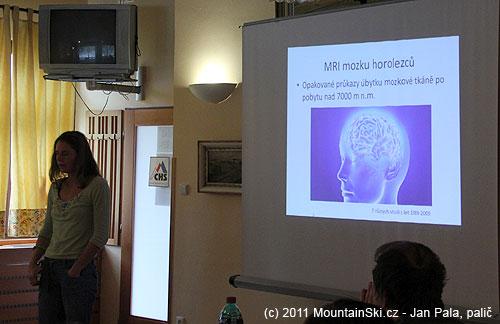 Kristina Hőschlová rozebírá vliv nadmořské výšky na úbytekmozku