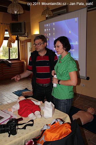 Ladislav Sieger a Jana Kubalová na začátku praktického workshopu