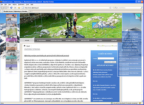 Na Alpinning.cz jsou fascinující fotky ze záhlaví webu, kdy je běhací pás umisťován na různá místa vpřírodě