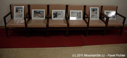Část minivýstavy mých zimních fotografií na Filmovém festivalu zimníchsportů