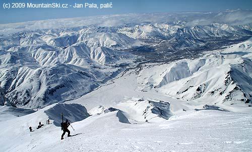 Just below the summit