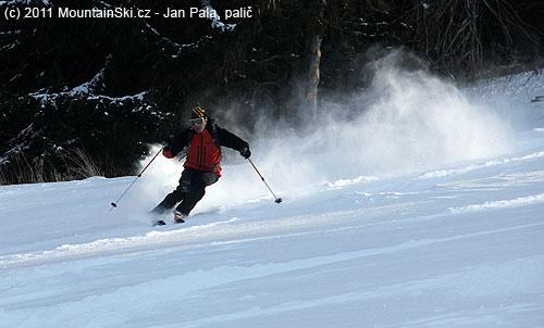 Někdy bylo ve vzduchu téměř více sněhu než na zemi