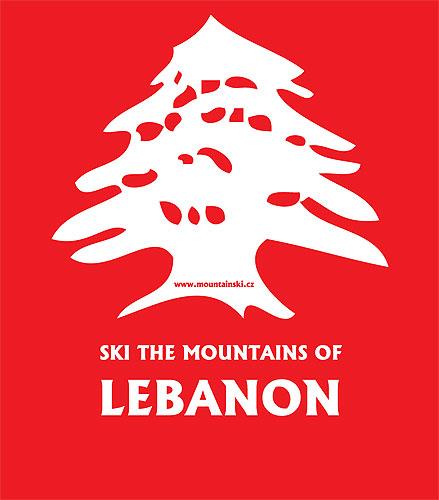 První verze loga skialpového výletu do Libanonu 2012