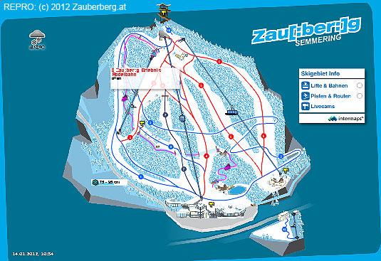 Mapa jednoho lyžařského kopce pod Vídní– Zauberberg