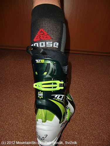 Ponožky Moose SKIALP mám pokaždé ve skialpinistických skeletech DynafitTLT5