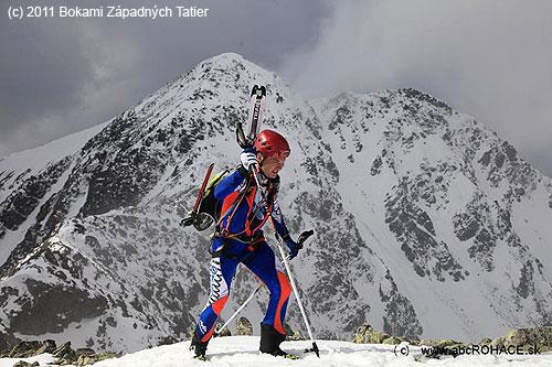 Při skialpinistických závodech Bokami Západných Tatier2011