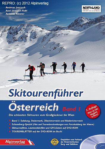 Titulní strana skialpinistického průvodce po Rakousku