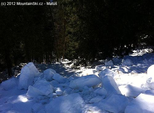 Lavína pod Šiprúňom– tadialto išla do lesa
