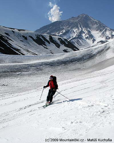 Final part of skiing from Korjakskij