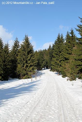Parádní běžkařské stopy na hřebenu Javorníků