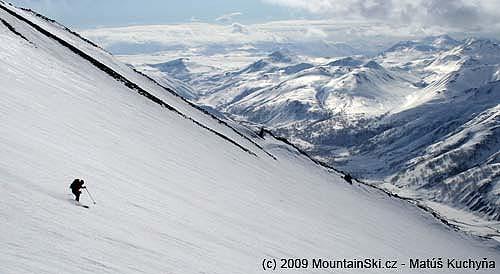 Lower part of skiing from Viljuchinskij