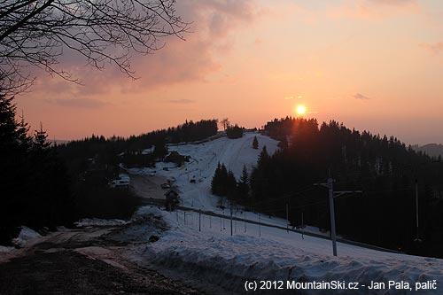 Západ slunce nad Kohútkou