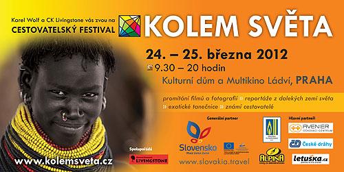 Pozvánka na festival Kolem světa vPraze vbřeznu 2012