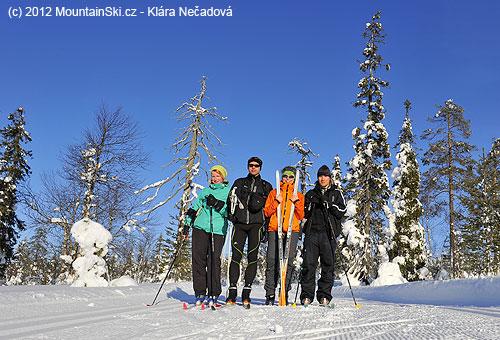 Útočný česko-finský team: Janča, Peťa, Klára a Niko