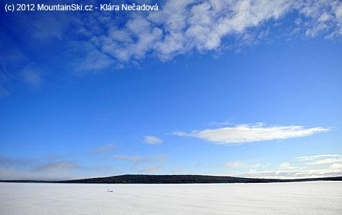Zamrzlé jezero Särkijärvi