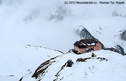 Schaubachhütte znadhledu
