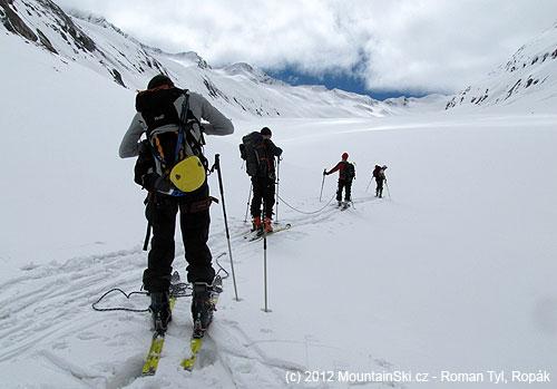 Navázali jsme se hned na začátku ledovce LängenfalerFerner