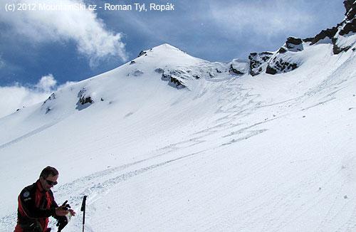 Samotný vrchol Eisseekogelu není ztohoto místa vidět