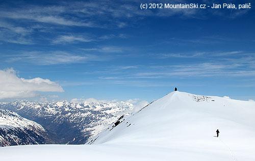 Ropák těsně pod vrcholem Eisseekogelu