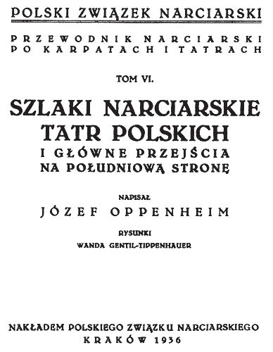 Title page of skialpinism buide from 1936