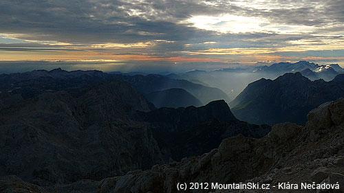 Podvečerní počasí vJulských Alpách