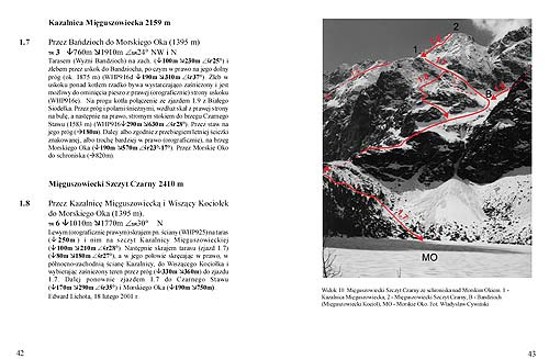 Pages 42–43 from Polish skialpinism guide from 2003