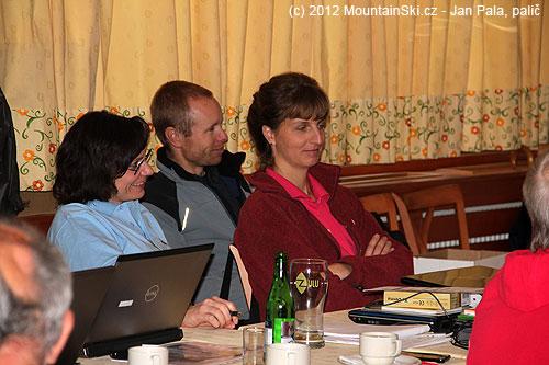 Jana Kubalová, Martin Honzík a Lucie Bloudková během popoledních přednášek