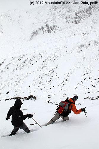 Brodění sněhem kpraktickému nácviku