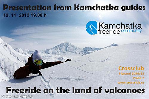 Pozvánka na lyžařské promítání opoloostrově Kamčatka