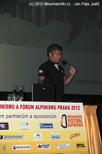 Michael Larcher přednášející